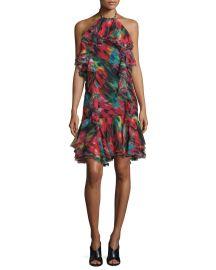 Jason Wu Silk Chiffon Halter Dress at Neiman Marcus