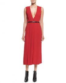 Jason Wu V-Neck Crepe Wrap Dress at Neiman Marcus