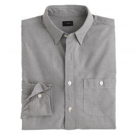 Jaspandeacute cotton shirt in Coal Grey at J. Crew