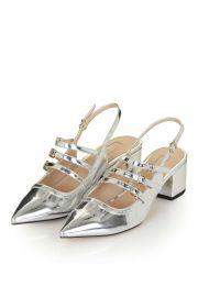 Java Metallic Sling Back Shoes at Topshop