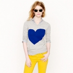 Jcrew heart sweater at J. Crew