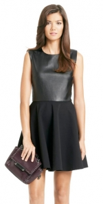 Jeannie Two Leather dress at DvF