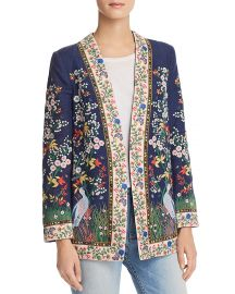 Jenice Embroidered Blazer at Bloomingdales