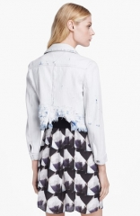 Jenja Wupp Denim Jacket by Theyskens Theory at Nordstrom