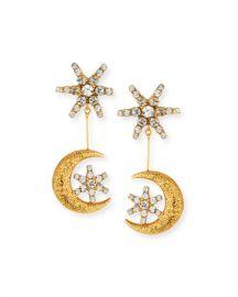 Jennifer Behr Atlas Star  amp  Moon Drop Earrings at Neiman Marcus