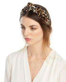 Jennifer Behr Fiona Silk Leopard Knotted Headband at Neiman Marcus