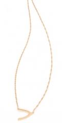 Jennifer Zeuner Jewelry Mini Wishbone Necklace at Shopbop