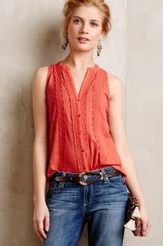 Jenson Tank in Coral at Anthropologie