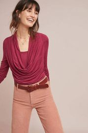Jersey Cowl Neck Top at Anthropologie