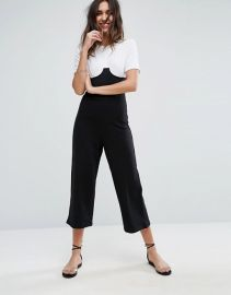 Jersey Jumpsuit with Corset Rib Waist and Cup Detail by ASOS at ASOS