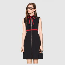 Jersey dress with Web trim by Gucci at Gucci