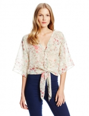 Jessica Simpson Floral Martina Blouse at Amazon