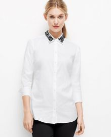Jewel Collar Shirt at Ann Taylor