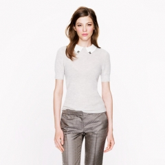 Jeweled collar sweater at J. Crew