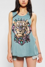 Jigsaw Tiger Muscle Tee by Life at Urban Outfitters