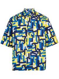 Jil Sander Geometric Print Shirt - at Farfetch