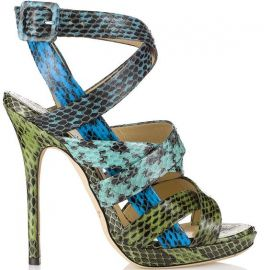 Jimmy Choo Dido Snakeskin Strappy Sandals at Saks Fifth Avenue