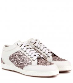Jimmy Choo Miami Glitter Sandals at Mytheresa