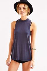 Joanna Mock Neck Muscle Tank at Urban Outfitters