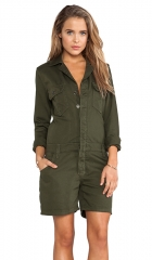 Joes Jeans Military Shirttail Romper in Olive  REVOLVE at Revolve