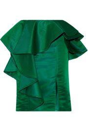 Johanna Ortiz   Esmeralda ruffled duchesse-satin skirt at Net A Porter