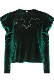 Johanna Ortiz   Hamlet embellished stretch-velvet top at Net A Porter