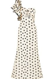 Johanna Ortiz   Valley of the Kings ruffled polka-dot silk-organza gown at Net A Porter