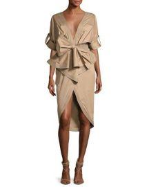 Johanna Ortiz Patagonia Poplin Trench Dress  Khaki at Neiman Marcus