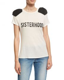 Johanna Ortiz Sisterhood Bow-Shoulder T-Shirt   Neiman Marcus at Neiman Marcus
