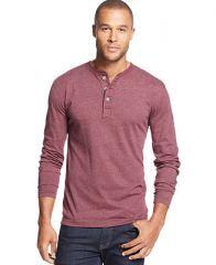 John Ashford Solid Marled Henley Shirt - T-Shirts - Men - Macys at Macys