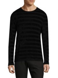 John Varvatos - Long-Sleeve Patterned Top at Saks Fifth Avenue