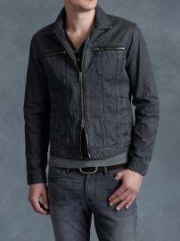 John Varvatos Denim Style Zip Jacket at John Varvatos