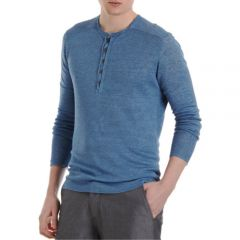 John Varvatos Ribbed Henley Shirt at Barneys
