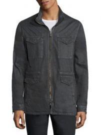 John Varvatos Star USA - Zip-Front Hooded Jacket at Saks Fifth Avenue