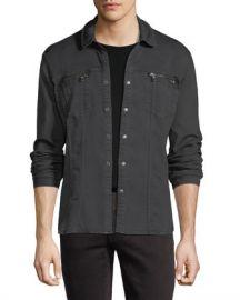 John Varvatos Star USA Denim Knit Shirt Jacket at Neiman Marcus