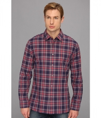 John Varvatos Star USA Plaid Collar Sport Shirt W184Q1B Violet at 6pm