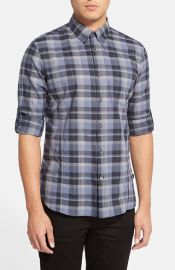 John Varvatos Star USA Slim Fit Plaid Sport shirt at Nordstrom