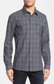 John Varvatos Star USA and39Luxeand39 Slim Fit Plaid Sport Shirt at Nordstrom