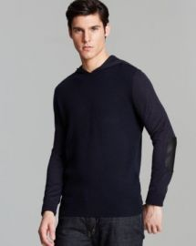 John Varvatos USA Mixed Gauge Pullover Hoodie at Bloomingdales