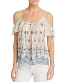 Joie Adorlee Cold-Shoulder Silk Blend Top - 100  Exclusive at Bloomingdales