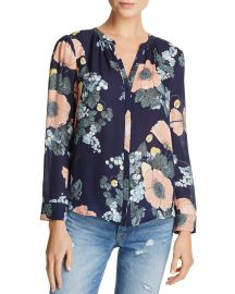 Joie Amarant Floral Silk Top at Bloomingdales