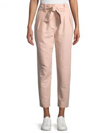 Joie Jun Straight-Leg Cotton-Linen Pants   Neiman Marcus at Neiman Marcus