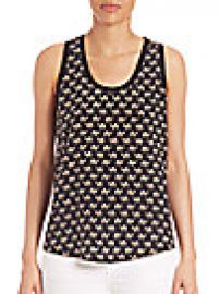 Joie - Alicia Camel Print Silk Tank at Saks Fifth Avenue