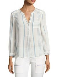 Joie - Almae Striped Gauze Top at Saks Fifth Avenue