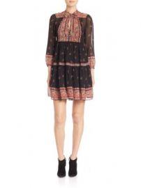 Joie - Alpina Silk Paisley-Print Tie-Neck Dress at Saks Fifth Avenue