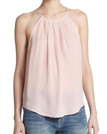 Joie - Amarey Silk Tank in Picasso Pink at Saks Fifth Avenue