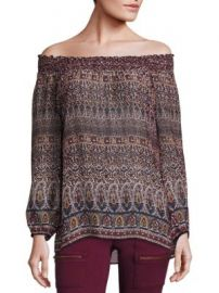 Joie - Azzedine Silk Off-The-Shoulder Blouse at Saks Fifth Avenue