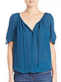 Joie - Berkeley Pleated Silk Blouse at Saks Fifth Avenue