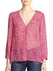 Joie - Calvina Silk Dotted Necktie Blouse at Saks Fifth Avenue