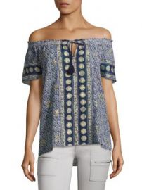 Joie - Camelyn Tassel Off-The-Shoulder Blouse at Saks Fifth Avenue